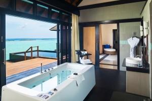 infiniy water villa bathroom